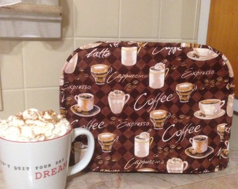 Coffee  2 Slice Toaster Cover Ready to Ship Next Business Day