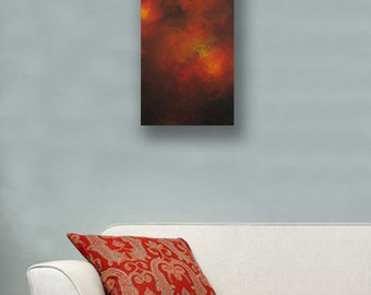 Modern Abstract Art - Modern Art Painting- Long Painting - Narrow Painting - 8x24 - In The Cave -Anne Cherubim