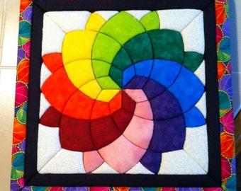 Quilted Fabric Sunburst