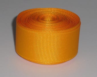 Yellow Gold 7/8 inch Solid Grosgrain Ribbon 10 yards