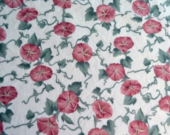 Vintage Fabric - Morning Glory Vine Flowers - By the Yard