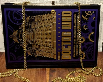 Book Clutch Doctor Who Daleks Edition SciFi Book Purse Ready to Ship
