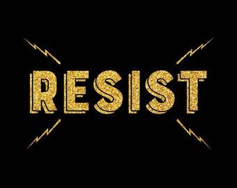 RESIST Glitter Tshirt
