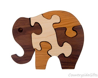 Puzzle – Hardwood Elephant Puzzle