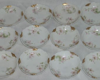 Theodore Haviland Limoges France Butter Pats Schleiger Gold 12