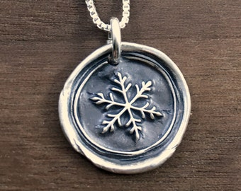 Snowflake Necklace - Wax Seal Necklace