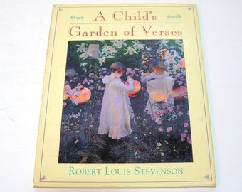 A Child's Garden Of Verses By Robert Louis Stevenson, Vintage Children's Book
