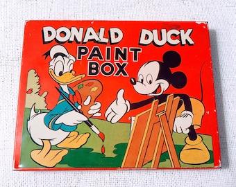 Vintage Donald Duck paint box-Disney