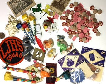 Destash Vintage Party Toys Bingo Chips Etc Mixed Media or Just for Fun