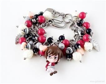 Kaminomi Keima Charm Bracelet, Stainless Steel Chain Bracelet, Anime Jewelry, Kawaii Jewelry, OOAK