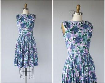 1960s Dress | 60s Dress | 1960s Floral Dress | 60s Printed Jersey Dress | Lavender Floral Dress 60s | Floral Print Dress |
