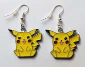 Pokemon Pikachu earrings with silver plated fishhook posts
