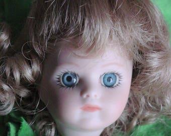 "Small 2"" Reproduction Bru Jne 9 Head & wig  Mignonette"