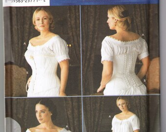 2002 Simplicity 7215 UNCUT Sewing Pattern Misses' Chemise and Corset Size 14, 16, 18, 20 Bust 36, 38, 40, 42
