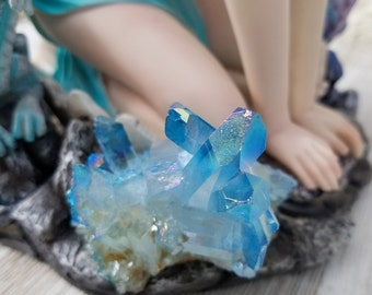 Aqua Aura Quartz - Elemental Gemstone