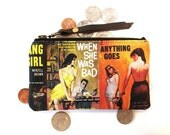 Pulp Fiction Book Covers Coin Purse Zipper Pouch