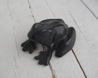 Vintage Cast Iron Frog Door Stop
