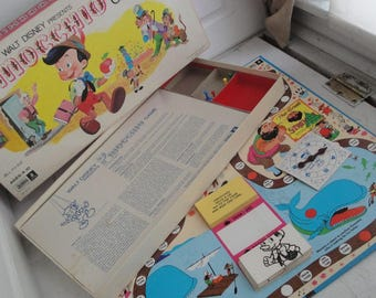 Vintage Pinoocchio Board Game 1971