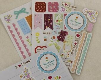 Miss Flower Stickers (STK-140)