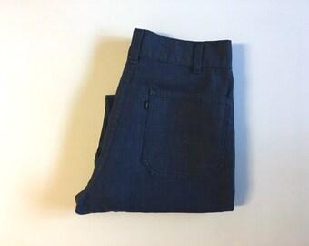 Vintage Men's 70's Levi's Bell Bottom Jeans, Dark Wash, Denim (W31xL31)