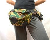 Vintage 80s Camo Camoflague Huge 3 Pocket Fanny Hip Pack