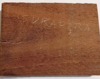 "Sukapura Wood, 7 5/8"" x 5 3/4"" x 1"", Old Wood, Woodworking, Craft Wood, Make Barrettes, Pens, Earrings, Pins, Inlays, Knife Handles, Crafts"