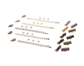 16mm  ( 5/8 inch ) Ribbon Choker or Ribbon Bracelet Findings Kit - Bronze, Gold, Silver, Gunmetal, Copper - Artisan & Dots Series