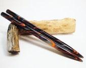 Acrylic Hair Sticks - Neon - 6 1/2 inches (16.51 cm) No 605