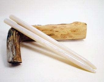 Acrylic Hair Sticks - Blue Pearl - 6 1/4 inches (15.875 cm) No 601