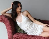 organic cotton nightgown slip - MYRTLE - bridal sleepwear and lingerie range - made to order
