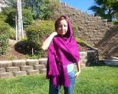Alpaca wool shawl throw or wrap in cobalt blue,black, green and royal blue O/S women winter outerwear