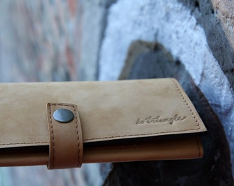 """Womens leather wallet - """"Gold dust"""""""
