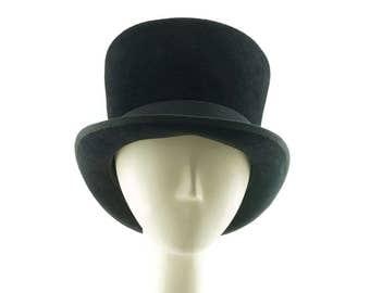 Black Top Hat, Felt Hat, Black Hat for Women, Ladies Hat, Monopoly Hat, Derby Hat, Tall Top Hat, Easter Hat, Mens Top Hat, Top Hat for Men