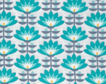 SALE - 1 yard - Deco Bloom in Mint, Atrium collection by Joel Dewberry