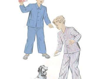 "1940s Boys Pajamas Sewing Pattern Advance 5237 26"" Chest Sz. 8"