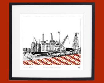 Battersea Power Station - Work in Progress' Limited Edition Screen Print