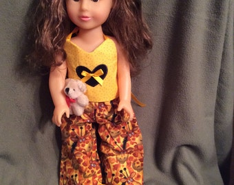 "Darling Giraffe Pajamas for American Girl and Other 18"" Dolls"