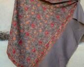 "Big Soft Coffee Brown Luxurious shawl/stole. Pure  wool . Kashmir. 82 x 42"" 208 x 107 cm"""