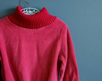 Vintage Girl's 1980s Dark Pink Velour Shirt - Size 5T 6