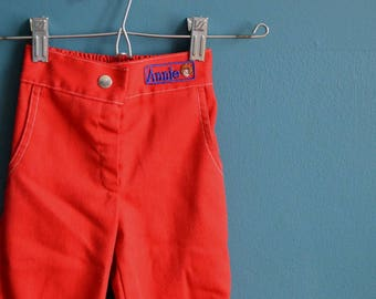 Vintage Early 80s Girl's Little Orphan Annie Capri Pants - Size 3T 4T