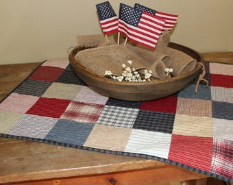 Liberty wovens quilted table runner