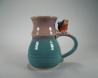 Children's Whistle Mug - for All Ages, Wet Your Whistle, Fun Kid's Mug, Handmade, Unique Pottery with Bird Whistle on Handle, One-of-a-Kind