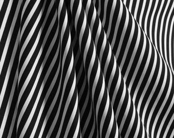 Spring Sale 20% off now- Carrie Black and White Striped Curtains Window Treatments, Black Striped Curtains