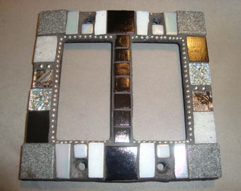 MOSAIC Light Switch or Outlet Cover, Double Rolling Toggle, Gray, Black, White, Silver
