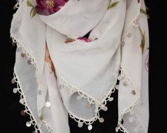 Handmade - Turkish Scarf With Beaded - Yemeni
