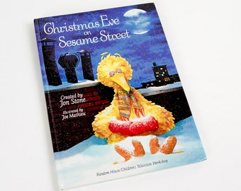 Vintage 1980s Childrens Book / Christmas Eve on Sesame Street by Jon Stone 1981 Hc VGC / Based On the Television Special