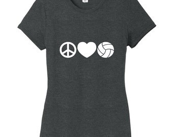 Peace Love Volleyball - Sports Women's Fitted T-Shirt