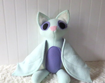 Mint Bat Plush, Bat Toy, Stuffed Bat