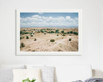 "Landscape Photography Fine Art Print // New Mexico Desert Summer // Nature Photography // Large Living Room Art Modern - ""New Mexico Summer"""