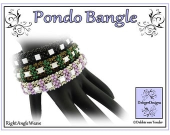 Beading Pattern, Tutorial, Bangle - PONDO